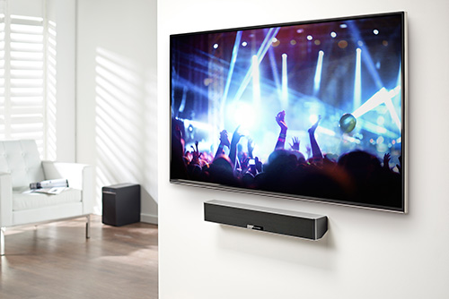news soundbar on wall